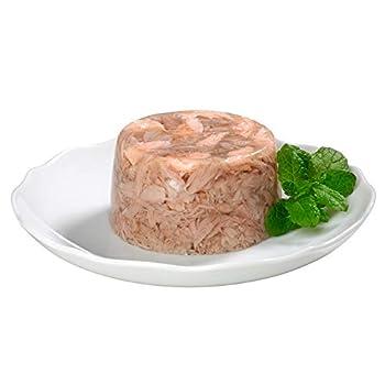 GimCat ShinyCat in Jelly Thon aux crevettes – Nourriture humide pour chats au poisson et à la taurine – 24 boîtes (24 à 70 g)