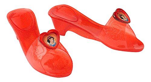 Princesas Disney - Zapatos de Blancanieves para niña, color rojo - Talla 4-6 años (Rubie's 35355)