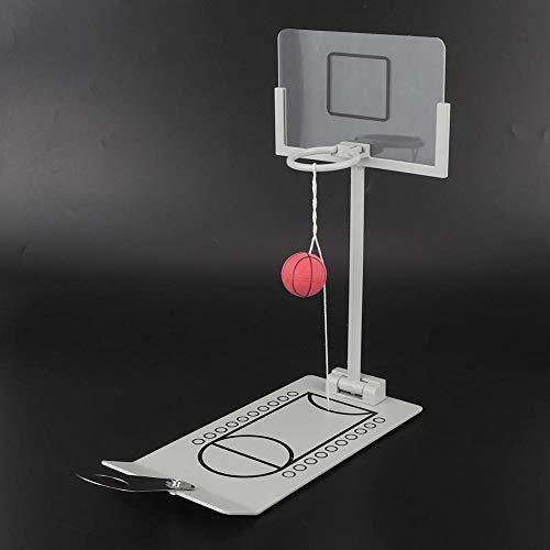 Raguso Miniatur Office Basketball Desktop-Spiel Finger Basketball Spiel Schreibtisch Ornament Tisch Spielzeug Dekoration Basketball Hoop Toy Brettspiel für Basketball-Fans und Fanatiker