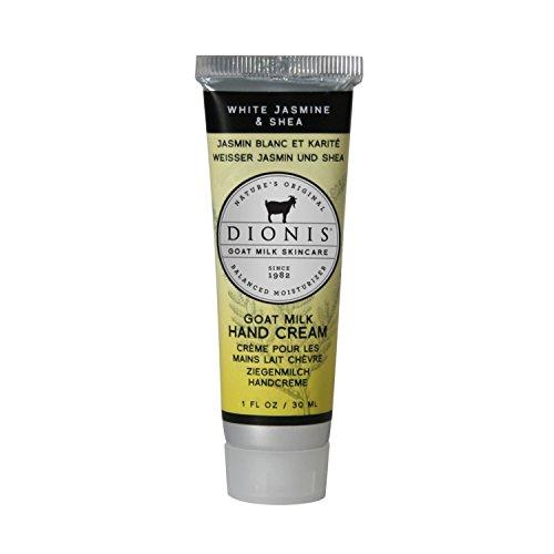 DIONIS Goat Milk Skincare Handcreme Jasmine & Shea | 30ml Natürliche Hautpflege mit Ziegenmilch & Vitamine E | Kokosmilch ergänzt den blumigen Duft