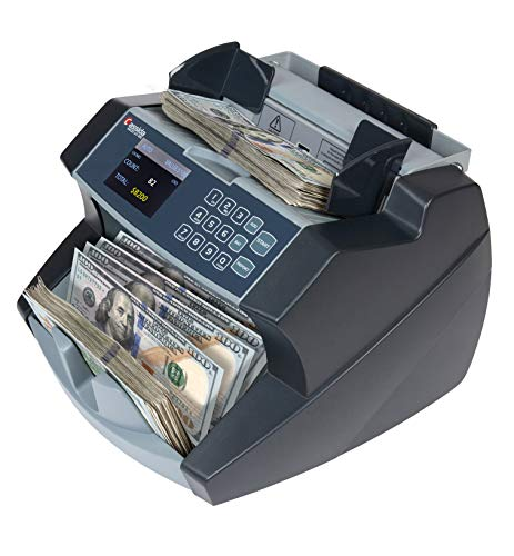 Cassida 6600 UV/MG – USA Business Grade Money Counter with UV/MG/IR Counterfeit Detection – Top Loading Bill Counting Machine w/ ValuCount, Add and Batch Modes – Fast Counting Speed 1,400 Notes/Min