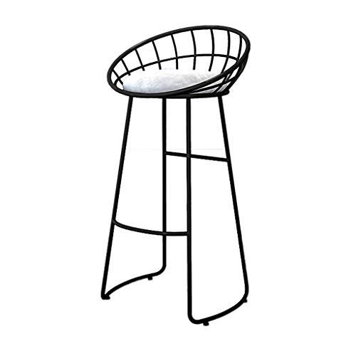 QenDsx Taburete de Bar de Hierro Forjado nórdico Taburete A