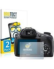 BROTECT 2x Schermbeschermer compatibel met Sony Cyber-Shot DSC-HX400V Screen protector transparant