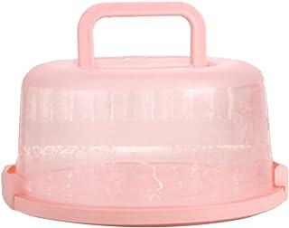 Gankmachine Redondo de plástico con Asas Tipo Cake Box Holder pastelería de Almacenamiento de contenedores Postre Cubierta...