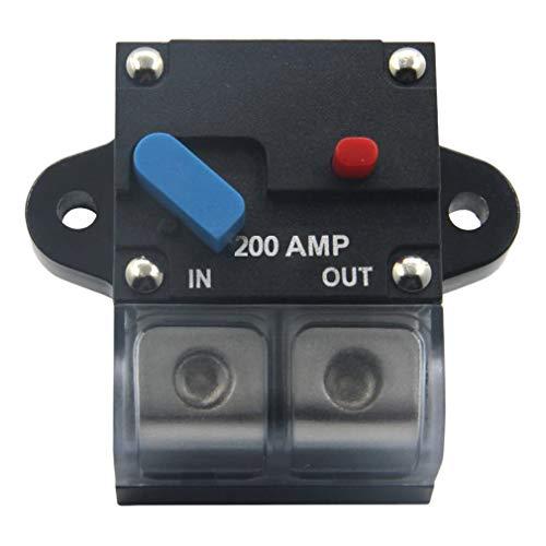 Gesh 12-24 V 200A Disyuntor de Circuito Motor de Trolling Auto Coche Marino Estéreo Audio Inline portafusibles Inversor