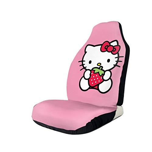Hello Ki-tty - Coprisedile auto (aggiornamento), protegge i sedili auto dal sudore quotidiano, sporco, facile da montare, lavabile per camion, SUV, sollievo dal dolore alla schiena, 2 pezzi