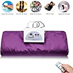 Heat Sauna Blanket for Weight Loss Electric Far-Infrared Sauna Sliming Blanket Khan Steam Foldable Steam Pot Machine and Weight Loss Sauna Detox Therapy Machine for Body Shaper Slimming Fitness Sweat