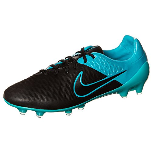 Nike Magista Opus Leather FG Soccer Cleats (Black/Turquoise) (6.5)