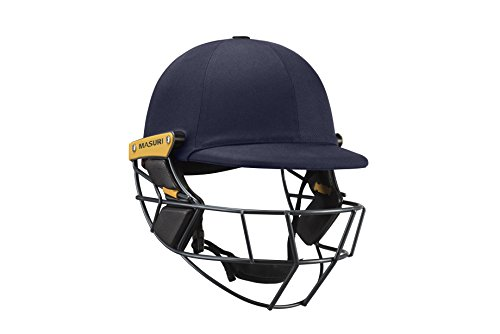 Masuri Unisex OS2 Test Titan Cricket-Helm, Marineblau, Größe L