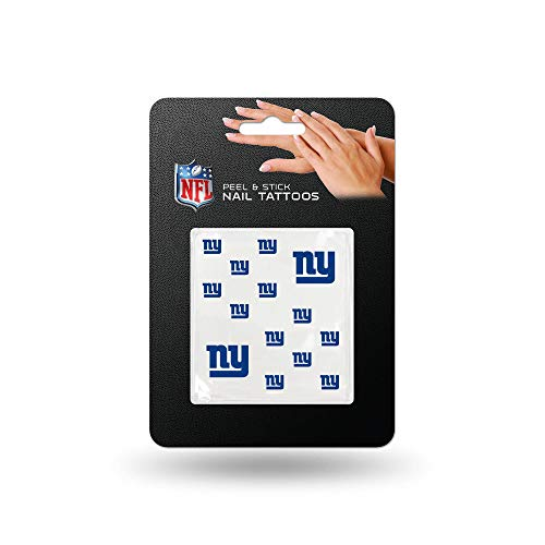 NFL New York Giants Nail Tattoos, Set of 12 Plus 2 Face Tattoos