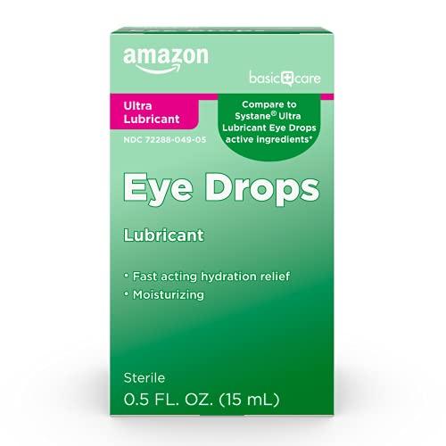 Amazon Basic Care Ultra Lubricant Eye Drops; relieves Burning, Eye...
