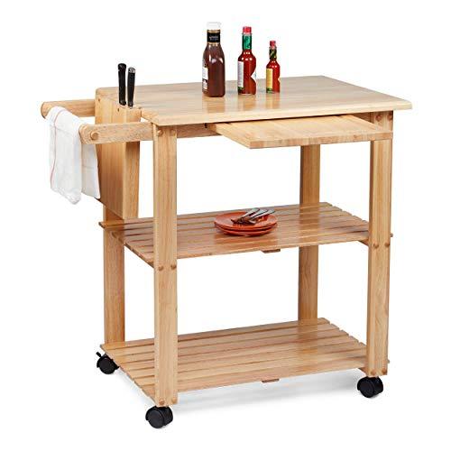 Civet Home Kitchen Cart, Natural