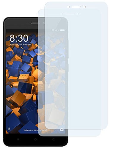 mumbi Schutzfolie kompatibel mit Xiaomi Redmi Note 4 Folie klar, Bildschirmschutzfolie (2X)