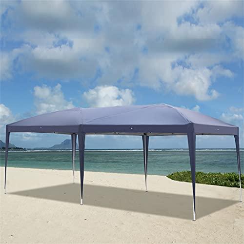 N\C Faltpavillon3 x 6 m,Wasserdicht, UV-Schutz,Gartenzelt, für Markt Camping Hochzeiten Party Festival,Pavillon Gartenzelt (Blau)
