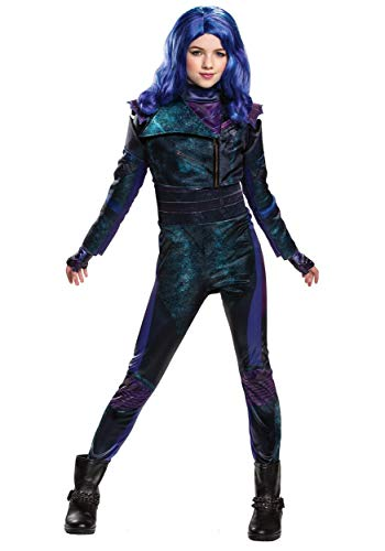 Disguise Disney Mal Descendants 3 Deluxe Girls' Costume, Purple, Medium (7-8)