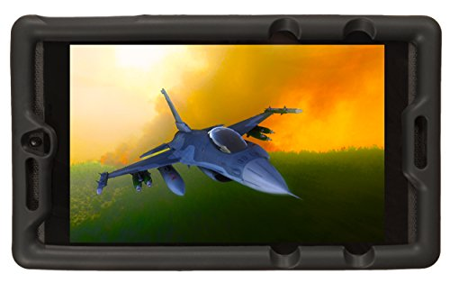 Bobj Rugged Case for NVIDIA Shield Tablet K1 - BobjGear Custom Fit - Patented Venting - Sound Amplification - BobjBounces Kid Friendly (Bold Black)