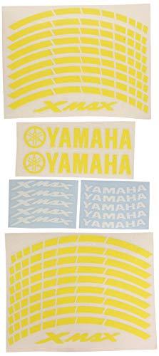 Ecoshirt 5M-US8K-K31I Pegatinas Llanta Xmax R312 Stickers Aufkleber Decals Autocollants Adesivi Moto GP, Amarillo