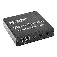 #N/A ビデオ録音アダプタ1080とマイクr/lループusb 30 60hzビデオグラバーhdmiキャプチャカードレコーダーライブストリーミングゲームオンライン授業