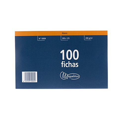 Fichas Cartulina Lisas Marca Miquel Rius