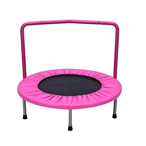 MQQ Interior Cama elástica para niños de jardín de Infantes pequeña Cama Rebote (Color : Pink)
