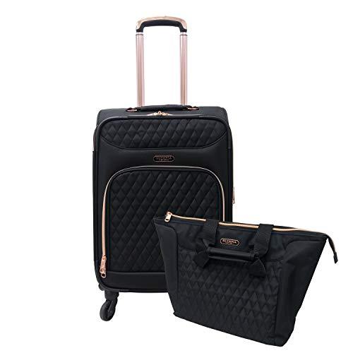 Olympia USA Harmony 2pc Luggage Set Black/Rose Gold