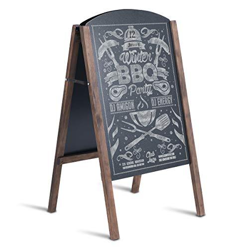 COSTWAY Standtafel schwarz, Kindertafel klappbar, Werbetafel Kundenstopper Kreidetafel Werbeaufsteller Schreibtafel Maltafel (45 x 41 x 78 cm (L x B x H))
