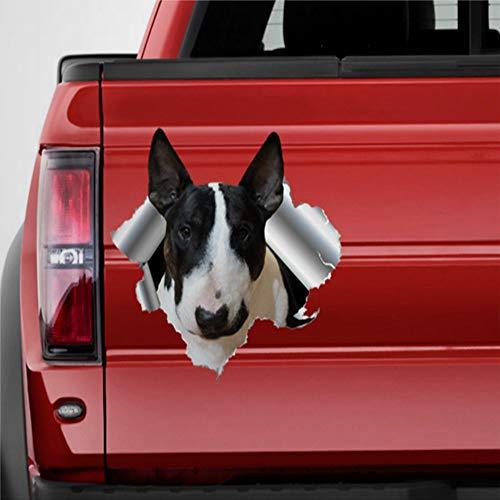 DONL9BAUER Bullterrier-Auto-Aufkleber, Vinyl, 3D-Effekt, für Laptop, Reisetasche, Tumbler, Tür, Stoßstange, Gepäck