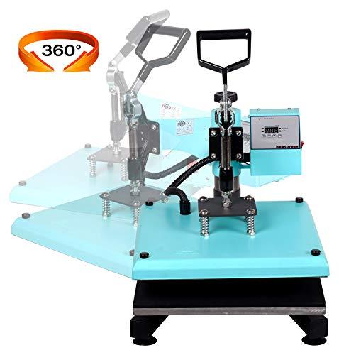 RICOO Transferpresse T538B-TB [38x38cm] T-Shirtpresse Heat Press Thermopresse Textilpresse für Transfer-Folie Transfer-Papier || Türkisblau || - 3