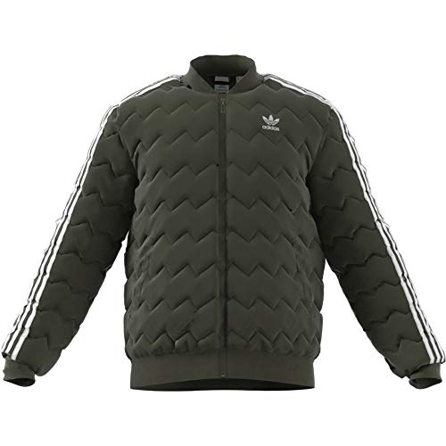 adidas Herren SST Quilted Jacke, Night Cargo, XL