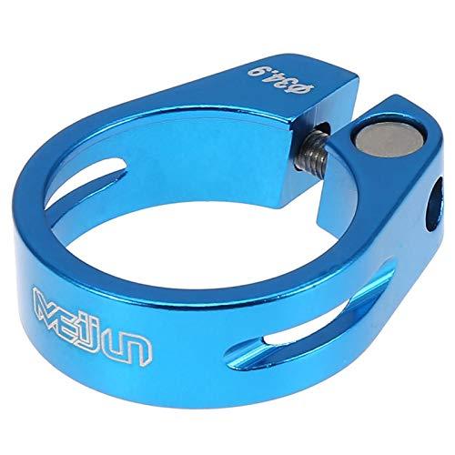 Kuuleyn Abrazadera de Poste de Asiento de Bicicleta, 5 Colores 34,9 mm Abrazadera de Poste de Asiento de Bicicleta de aleación de Aluminio Accesorio de tija de sillín de Bicicleta de montaña(Azul)