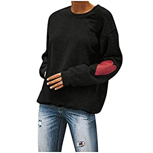 Women's Crew Neck Pullover Sweatshirts Long Sleeve Casual Tops Blouse...