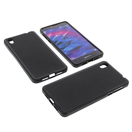 foto-kontor Tasche für MEDION Life X5020 Gummi TPU Schutz Hülle Handytasche schwarz