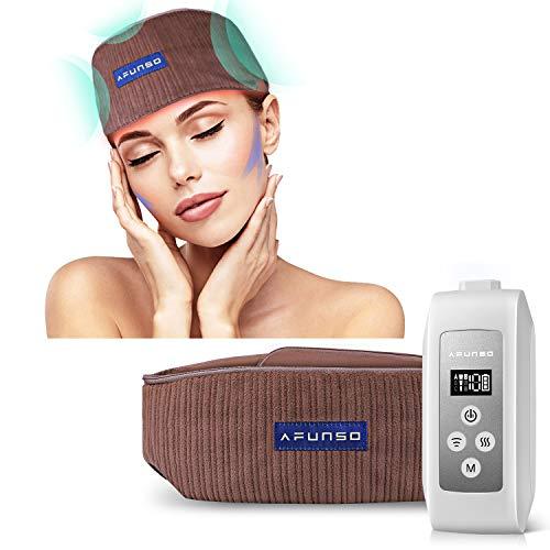 Massaggiatore Testa e Cuoio Capelluto - Massaggiatore Elettrico Ricaricabile Massaggi per Alleviare il Mal di Testa, Design con Cuscinetto ad Aria Calda per un Relax Profondo, Migliorare Sonno