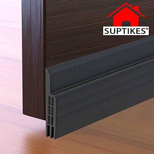 Door Draft Stopper Under Door Seal for Exterior/Interior Doors, Door Sweep Strip Under Door Draft Blocker, Soundproof Door Bottom Weather Stripping, 2