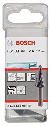 Bosch 2608588064 - Punta a gradini HSS-TiAIN, 4-12 mm, 5 gradini