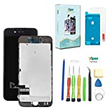 Screen Replacement for iPhone 7 (4.7 inch) -3D Touch LCD Screen Digitizer Replacement Display Assembly with Back Plate Repair Kits Waterproof Adhesive, Tempered Glass, Tools,Instruction (Black)