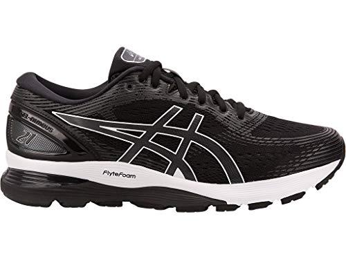 ASICS Men's Gel-Nimbus 21 Running Shoes, 11M, Black/Dark Grey