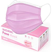 50-Pack EAILGORL 3-Ply Disposable Face Masks (Pink)