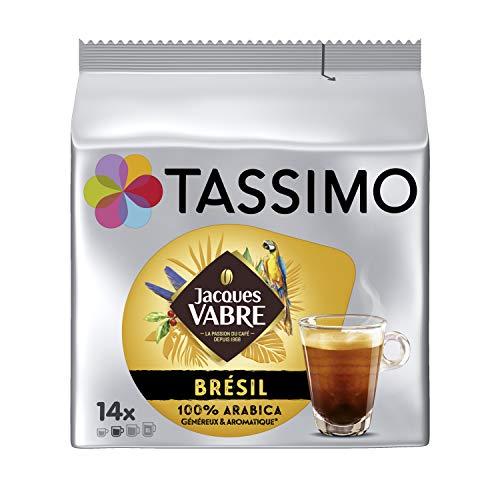 Tassimo Café Dosettes - 70 boissons Jacques Vabre Brésil (lot de 5 x 14 boissons)