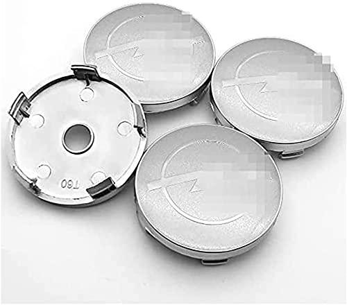 4 Pièces Enjoliveurs, pour OPEL-Astra Zafira Vivaro Adam Mokka 60mm Accessoires De Voiture Poussière Cache Moyeu Résistant à La Corrosion Et Durable
