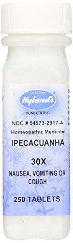 Price comparison product image Hyland's Ipecacuanha 30X Tablets,  Natural Homeopathic Relief of Nausea & Vomiting,  250 Count