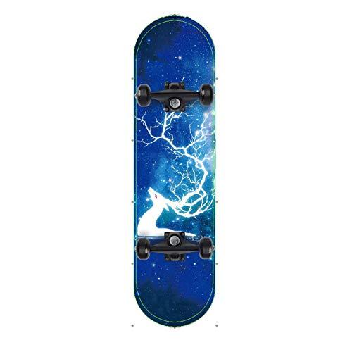Skateboard Grip Tape Skateboards, 8020CM Skateboards for Adults U Teenagers,Maple Cruiser Skate Board, Including Truck, PU Wheels, Back Pattern,Bearing for Skateboard,Rollerboard,Scooter ect