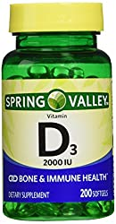 top 10 spring valley vitamin Spring Valley Double Pack containing 2000 IU of Vitamin D3. Immune / bone health, 200 …