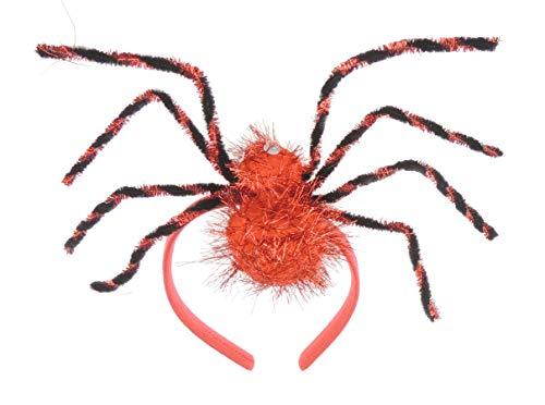 Glamour Girlz Bandeau pour déguisement d'Halloween Motif araignée Rouge