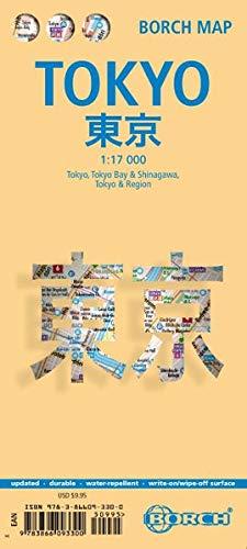 Tokio plano callejero plastificado. Escala 1:17.000. Borch.