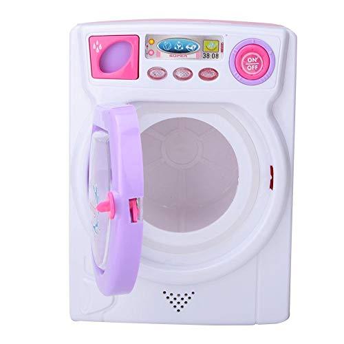 Juego de imaginación Cilindro Lavadora, Mini Luz Sonido Rodando Lavadora Juguete Colorido Limpieza Preescolar Juguete