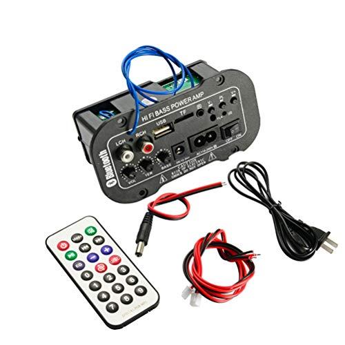 Release Liberación Placa Amplificadora Digital Bluetooth para Coche Amplificadores De Audio De 25 W con USB Dac FM Radio TF Reproductor Subwoofer Amplificador para Altavoz