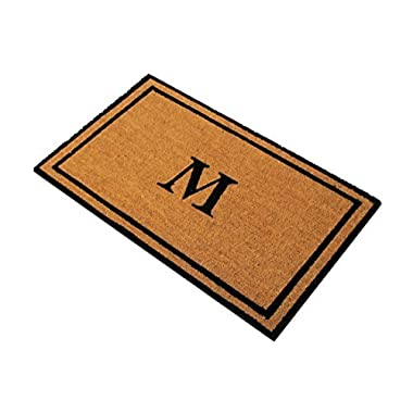 Personalized Monogrammed 18  by 30  Coco Coir Doormat M, Customized Welcome Mat