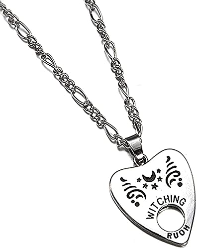 Aluyouqi Co.,ltd Collar Collar Colgante Antiguo Collar Forma De Corazón Colgante De Letra Colgante Collar Estilo Punk Mujer Hombre S Joyería