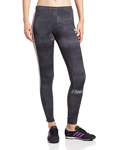 adidas M Moon Leggings Damen Tights 38 Schwarz/Grau/Weiß